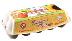 """Яйца """"Сеймовские Деревенские"""", контейнер Эффект С0 - 10 шт."""